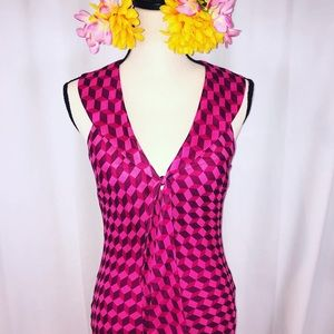 Isabel Ardee Pink Silk geometric maxi dress 🌺